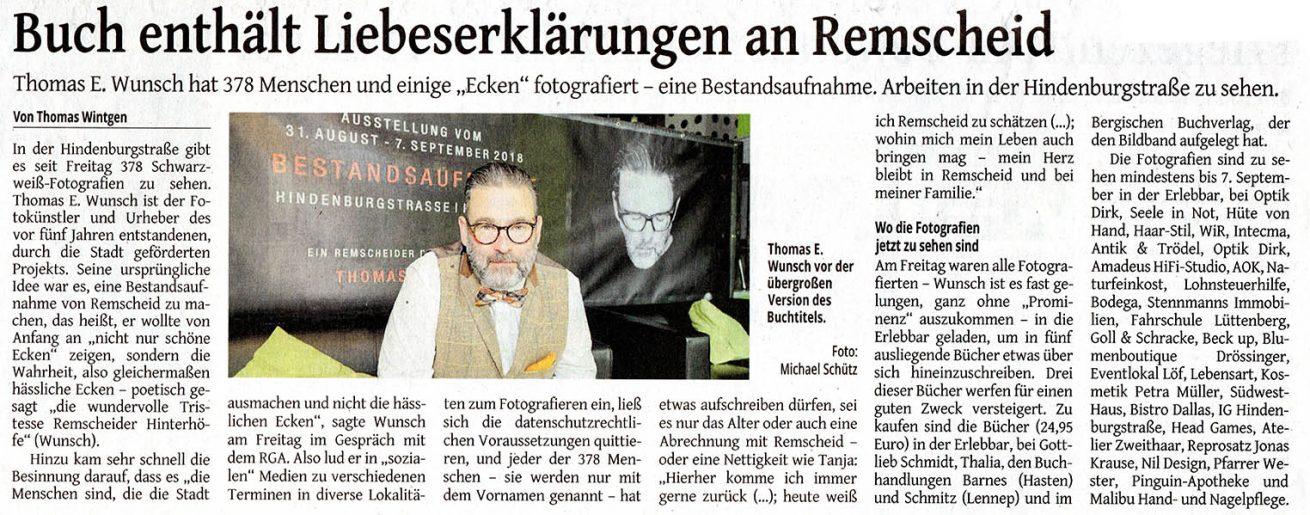 © Remscheider Generalanzeiger 2018